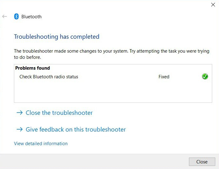 PC BLUETOOTH Troubleshoot